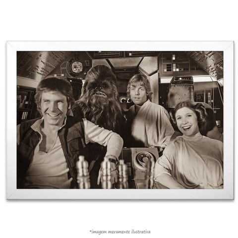 Poster Harrison Ford, Mark Hamill e Carrie Fisher - comprar online