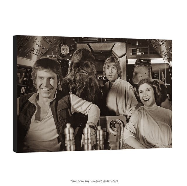 Poster Harrison Ford, Mark Hamill e Carrie Fisher na internet