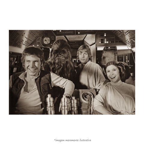 Poster Harrison Ford, Mark Hamill e Carrie Fisher
