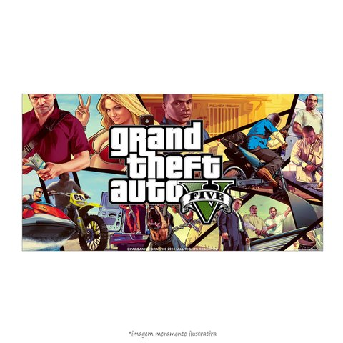 Poster Grand Theft Auto V - Personagens