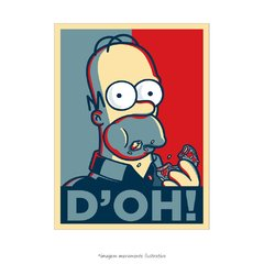 Poster Homer Simpson D'oh - QueroPosters.com