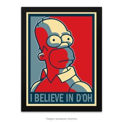 Poster Homer Simpson - I belive in D'oh