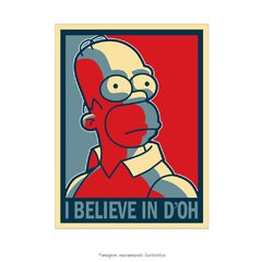 Poster Homer Simpson - I belive in D'oh - QueroPosters.com
