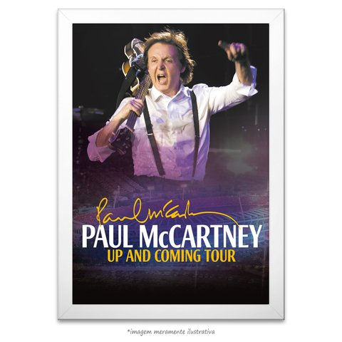 Poster Paul McCartney in Brazil - comprar online