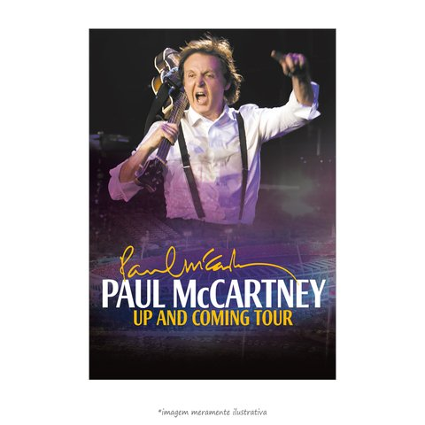 Poster Paul McCartney in Brazil
