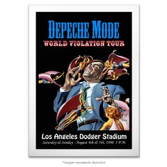 Poster Depeche Mode - World Violation - Tour Los Angeles Concert - comprar online