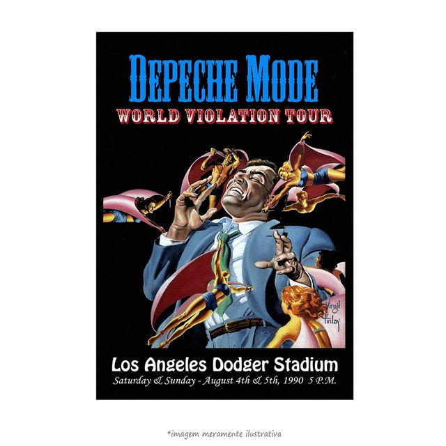 Poster Depeche Mode - World Violation - Tour Los Angeles Concert - QueroPosters.com