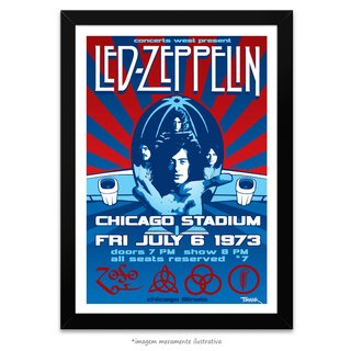 Poster Led Zeppelin - Chicago Stadium 1973