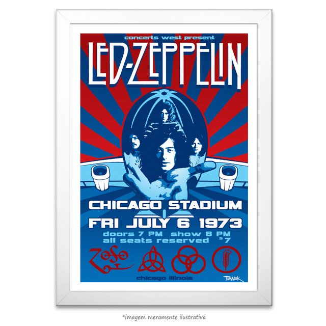 Poster Led Zeppelin - Chicago Stadium 1973 - comprar online