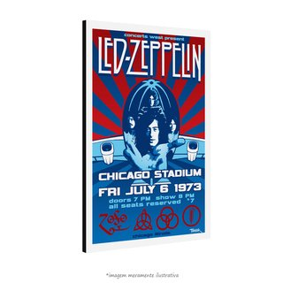 Poster Led Zeppelin - Chicago Stadium 1973 na internet