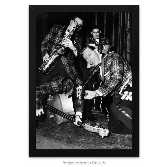 Poster Bill Haley's Saddlemen - comprar online