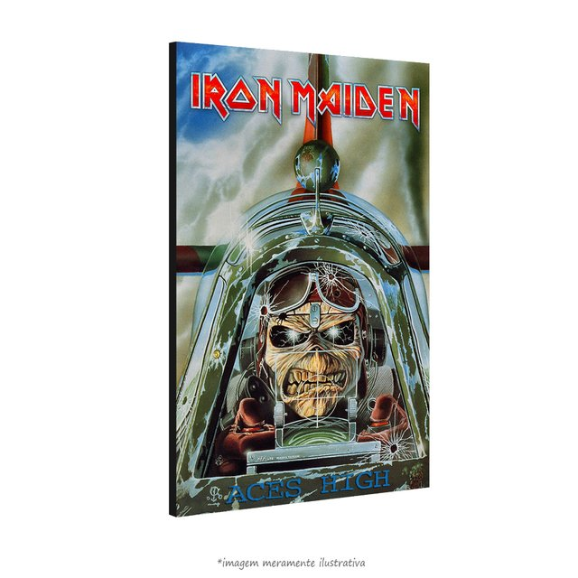 Poster Iron Maiden - Aces High 1985 na internet
