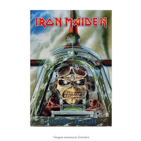 Poster Iron Maiden - Aces High 1985 - QueroPosters.com