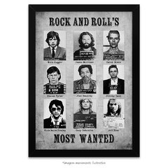 Poster Rock and Roll's Most Wanted