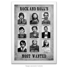 Poster Rock and Roll's Most Wanted - comprar online
