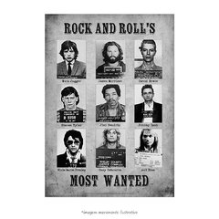 Poster Rock and Roll's Most Wanted - QueroPosters.com