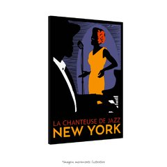 Poster A Cantora de Jazz de Nova Iorque - La Chanteuse De Jazz New York na internet
