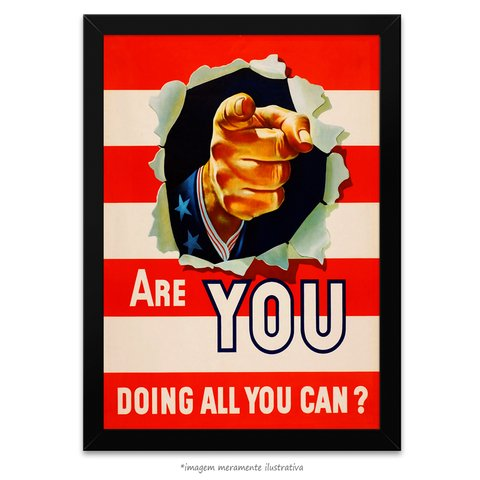 Poster Are You Doing All You Can - comprar online