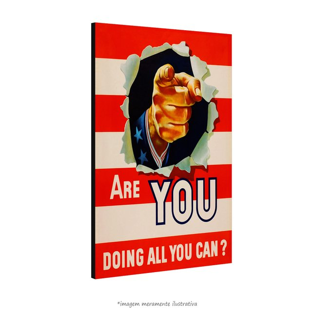 Poster Are You Doing All You Can - QueroPosters.com