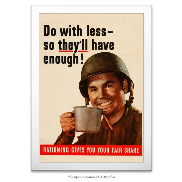 Poster Do With Less - So They'll Have Enough - comprar online