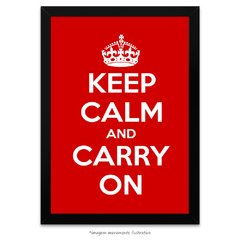 Poster Keep Calm and Carry On - Red
