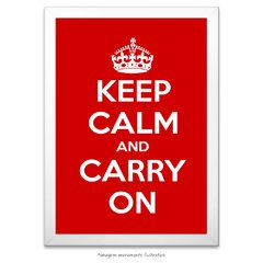 Poster Keep Calm and Carry On - Red - comprar online