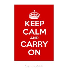 Poster Keep Calm and Carry On - Red - QueroPosters.com