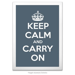 Poster Keep Calm and Carry On - Charcoal - comprar online