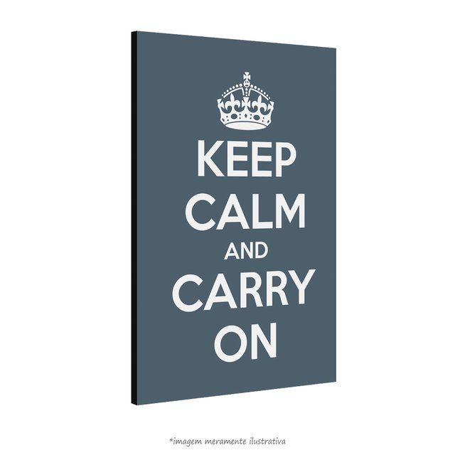 Poster Keep Calm and Carry On - Charcoal na internet