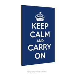 Poster Keep Calm and Carry On - Azul Escuro na internet