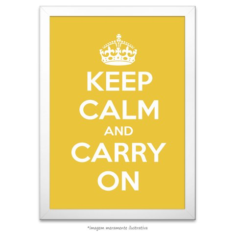 Poster Keep Calm and Carry On - Lima - comprar online