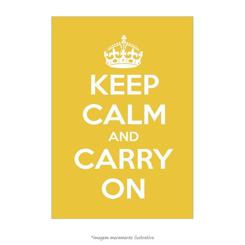 Poster Keep Calm and Carry On - Lima