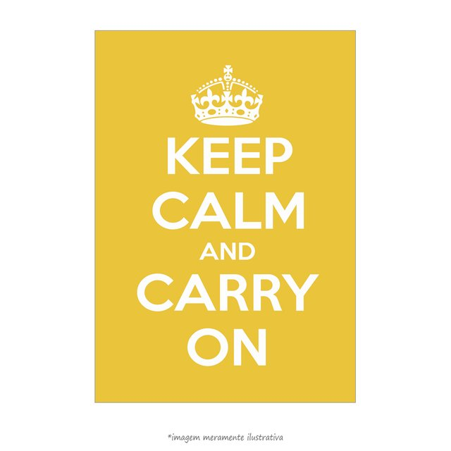 Poster Keep Calm and Carry On - Lima - QueroPosters.com
