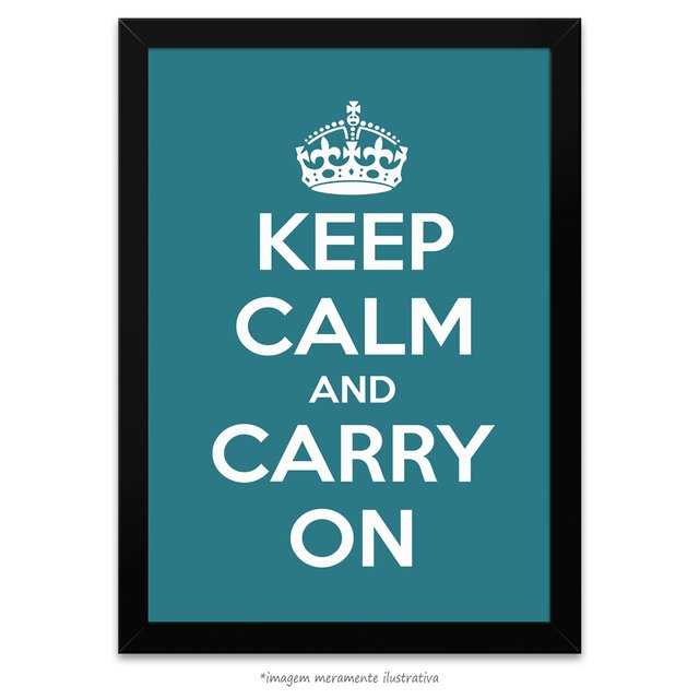 Poster Keep Calm and Carry On - Peacock