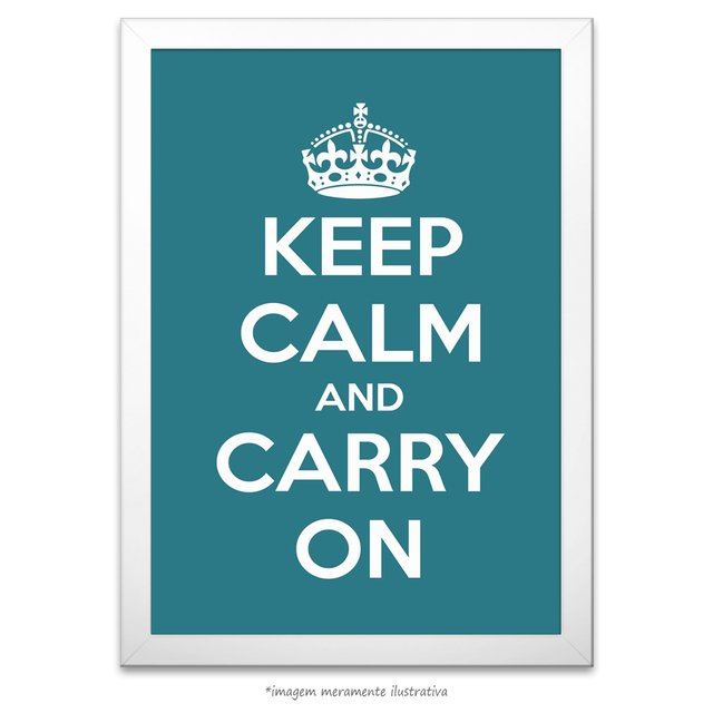 Poster Keep Calm and Carry On - Peacock - comprar online