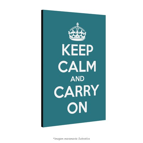 Poster Keep Calm and Carry On - Peacock - QueroPosters.com
