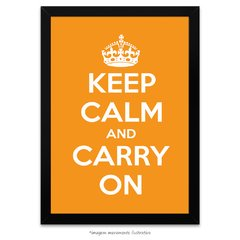 Poster Keep Calm and Carry On - Laranja