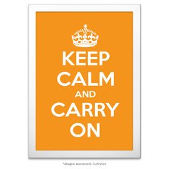 Poster Keep Calm and Carry On - Laranja - comprar online