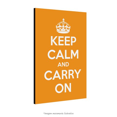 Poster Keep Calm and Carry On - Laranja na internet