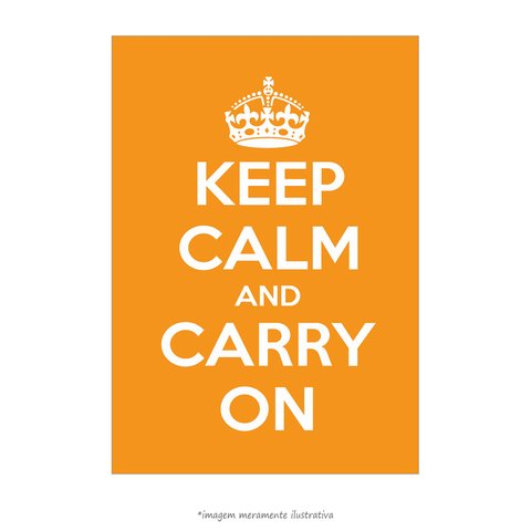 Poster Keep Calm and Carry On - Laranja - QueroPosters.com