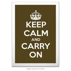 Poster Keep Calm and Carry On - Musgo - comprar online