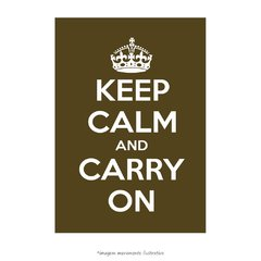 Poster Keep Calm and Carry On - Musgo - QueroPosters.com