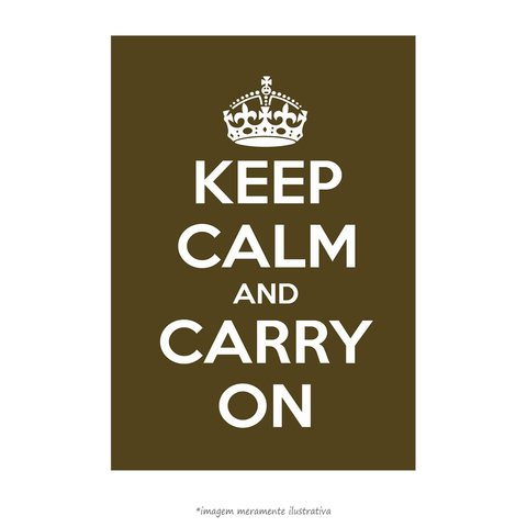Poster Keep Calm and Carry On - Musgo