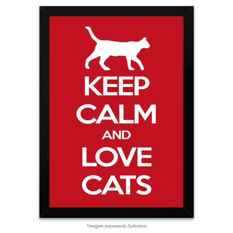 Poster Keep Calm and Love Cats