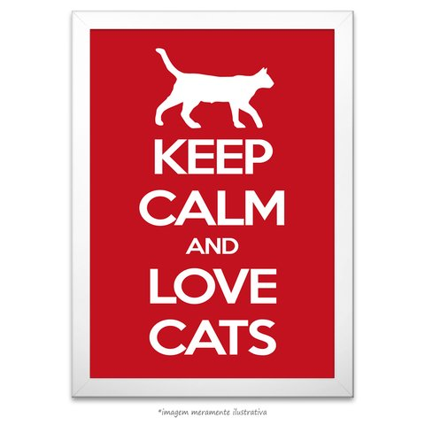 Poster Keep Calm and Love Cats - comprar online