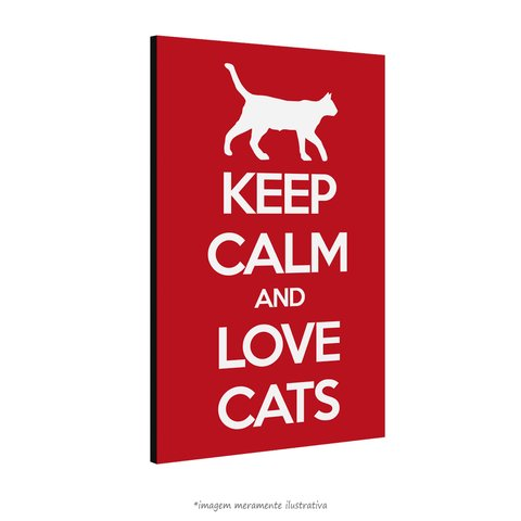 Poster Keep Calm and Love Cats na internet