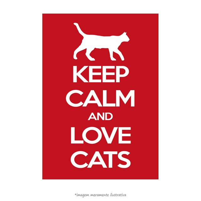 Poster Keep Calm and Love Cats - QueroPosters.com
