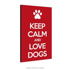 Poster Keep Calm and Love Dogs na internet