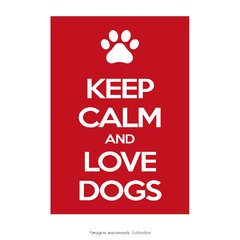 Poster Keep Calm and Love Dogs - QueroPosters.com
