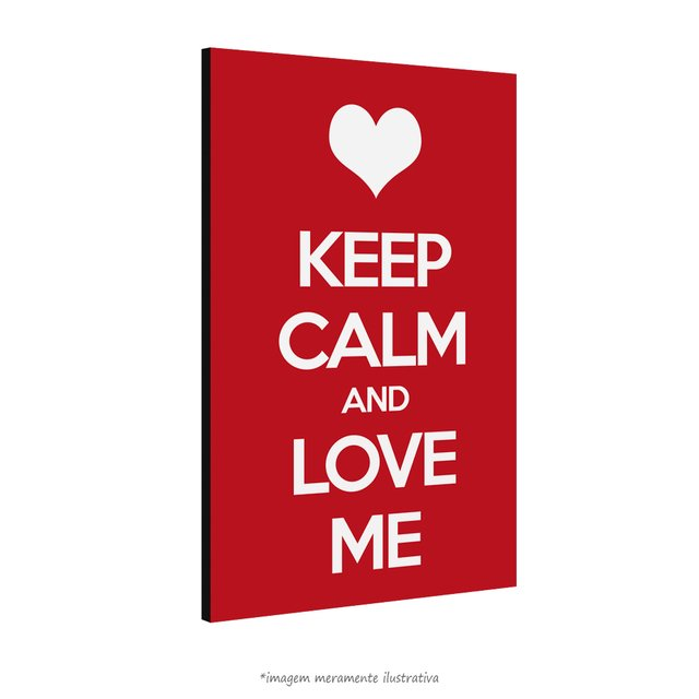 Poster Keep Calm and Love Me na internet